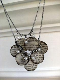 [TUTORIAL] Book Page Necklace engelstalig, maar wel veel foto's die alles duidelijk maken