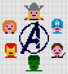 Marvel Avengers Assemble 2012 Cross Stitch Pattern (PDF). £1.99, via Etsy.
