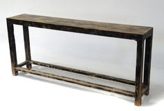 Slim recycled wood console table shelf by Terra by TerraNovaLA, $998.00