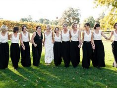 Bridesmaids in Two Pieces; Tops, Skirts and Shorts - KnotsVilla