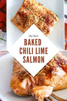 This easy oven baked chili lime salmon recipe is our family's favorite seafood dish. The ingredients are simple, and the end result is a flaky salmon that is full of flavor and still healthy. Lime Salmon Recipes, Fish Recipes, Seafood Recipes, Sausage Recipes, Meat Recipes, Cooking Recipes, Icing Recipes, Lentil Recipes, Dessert Recipes