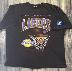 5c7f1e018 Vintage Starter Los Angeles Lakers Shirt Size XL 90s NBA Basketball 1991  Tee LA