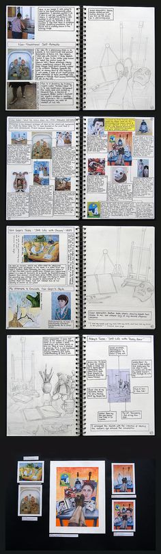 Drawing from observation in art. This section of Abby's A Level Art portfolio shows excellent reference to first-hand sources. Here she completes observational line drawings of still life items (relating to her identity as a young artis A Level Art Sketchbook, Sketchbook Layout, Arte Sketchbook, Sketchbook Pages, Sketchbook Inspiration, Sketchbook Ideas, Journal Inspiration, Style Inspiration, Kunst Portfolio