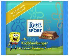 RITTER SPORT Fake Schokolade Krabbenburger