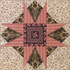 Civil War Quilts: Threads of Memory block 8 Jacksonville Star by Becky Brown 2014 Star Quilt Blocks, Star Quilt Patterns, Star Quilts, Doll Patterns, Antique Quilts, Vintage Quilts, Bargello Quilts, Civil War Quilts, Square Quilt