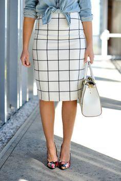 Windowpane skirt via @mystylevita
