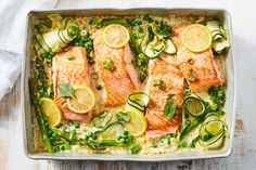 Salmon recipes 408772103678049480 - Creamy lemon salmon tray bake Source by vikkcab Risoni Recipes, Pea Recipes, Salmon Recipes, Fish Recipes, Seafood Recipes, Vegetarian Recipes, Savoury Recipes, Recipies, Dinner Recipes