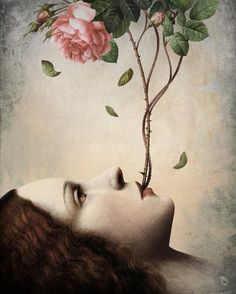 Anything can happen in a world that holds such beauty - Christian Schloe is a talented Chilean artist whose work includes digital art, painting, illustration, and photography. Art And Illustration, Portrait Illustration, Fantasy Kunst, Fantasy Art, Art Visionnaire, Illustrator, Art Du Monde, Visionary Art, Fine Art