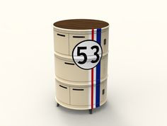 Oil Drum Furniture by Asger Troest , via Behance