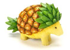 Fruit turned Animal Art: 30 Creative Creations  Pineapple
