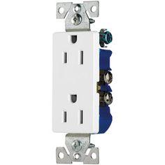 $6.26-Cooper Wiring Devices 125-Volt 20-Amp White Decorator Duplex ...