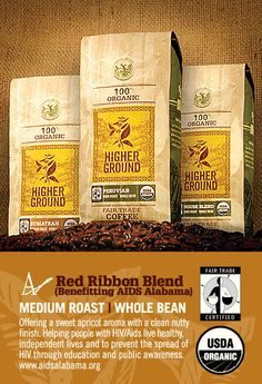 Alabama Red Ribbon-This blend of high grown Latin American beans creates a coffee with a sweet apricot aroma, a medium body, and a clean, nutty finish. People With Hiv, Coffee Prices, Ground Coffee Beans, Roast Me, Fair Trade Coffee, Best Beans, Cheap Coffee, Higher Ground, Shopping Near Me