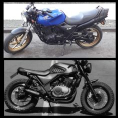 Discover recipes, home ideas, style inspiration and other ideas to try. Gs500 Cafe Racer, Cafe Racer Moto, Cafe Racing, Cafe Racer Bikes, Trail Motorcycle, Motorcycle Design, Scooter Design, Bike Design, Honda Cb 500
