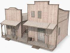 www.turbosquid.com Wild West Buildings - misc building