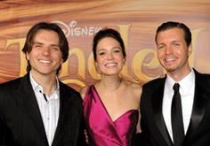 """A Towering Success! Evergreen Alum & Disney filmmaker, Byron Howard '90, struck cinematic gold with his latest work. Byron Howard (L), Mandy Moore and Nathan Greno at the """"Tangled"""" premiere on Nov. 14, 2010 in Los Angeles.    For more see- http://www.evergreen.edu/magazine/2011spring/tangled.htm"""