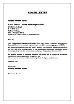 [ Cover Letter Fresh Graduate Examples Job Application Letters For Engineer Free Sample Example ] - Best Free Home Design Idea & Inspiration Nursing Cover Letter, Best Cover Letter, Job Cover Letter, Writing A Cover Letter, Cover Letter Example, Cover Letter For Resume, Cover Letter Template, Letter Templates, Simple Application Letter
