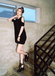 Stylenanda, Korean, Black, Dresses, Fashion, Vestidos, Moda, Korean Language, Black People
