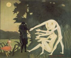 From ARS/Art Resource, Victor Brauner, The Encounter of 2 bis rue Perrel (1946), Oil on canvas, 85 × 105 cm