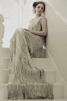 1920's wedding dress. Vintage