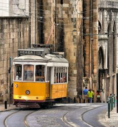 Has to be the best way to travel in Lisbon! electrico 28