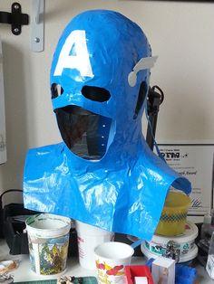 Duct Tape Superhero Cowl Tutorial - Captain America & Batman