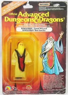 Advanced Dungeons & Dragons - LJN - Ringlerun (carte Canada) Dungeons And Dragons Figures, Advanced Dungeons And Dragons, Vintage Toys, Retro Vintage, 1980s Kids, Fantasy Names, Toy Packaging, Sword And Sorcery, Dinosaur Toys