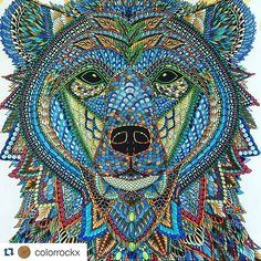 Getting some real Jungle Book feels from all the pieces that are catching my eye today. Here's a great one from @colorrockx  #Repost @colorrockx with @repostapp ・・・ This one also colored by my sister( without fb or instagram)#kleurenvoorvolwassenen #kleuren #colour #colouring #adultcoloringbook #adultcolouring #ilovecolouring #themenagerie