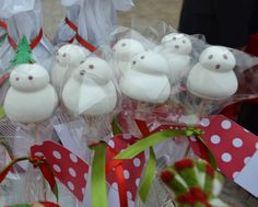 Snow man marshmallows