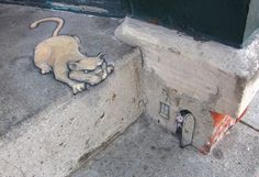 Awesome Small Scale Sidewalk Chalk Art by David Zinn! - http://www.moillusions.com/awesome-small-scale-sidewalk-chalk-art-by-david-zinn/?utm_source=Pinterest&utm_medium=Social