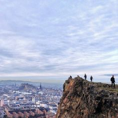 """Have you experience that """"on top of the world"""" feeling when you stand on The Crags? A beautiful photo by @amoedimburgo. Don't forget to use #edinphoto and #thisisedinburgh with your photos of Edinburgh for the chance to be featured on our page. by thisisedinburgh"""