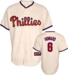 MLB Youth Philadelphia Phillies Ryan Howard Ivory Alternate Short Sleeve 6 Button Synthetic Replica Baseball Jersey Spring 2011 --- http://www.pinterest.com.luvit.in/474