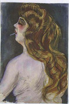 Otto Dix - woman smoking