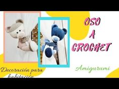 💚OSO Amigurumi a CROCHET o ganchillo, decoracion para cortinas/ habitación 2/2 - YouTube