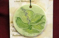 MOM'S FAVORITE HOSTA handmade ceramic by FaithAnnOriginals on Etsy, $24.00