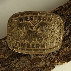 Holiday Sale on Gifts for Men! Bronze Western Timbermen Belt Buckle
