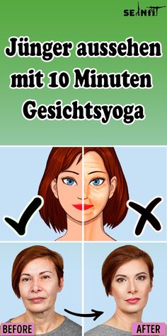 Look younger with 10 minutes of facial yoga-Jünger aussehen mit 10 Minuten Gesichtsyoga Look younger with 10 minutes of facial yoga - Yoga Facial, Boy Hairstyles, Elegant Hairstyles, Natural Hair Care Tips, Natural Hair Styles, Makeup Tips, Beauty Makeup, Yoga Hair, Look Younger