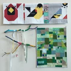 Charley Harper and aerial topography quilt