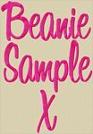Free Beanie Font Sample Letter Alphabet Embroidery Design by 8Clawsandapaw.com