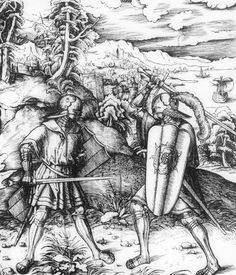 Over armour waffenrock. The method of carrying such a large pavise across the shoulder, by means of a diagonal strap or guige attached at its rear, is well shown in one of the woodcuts of the Ehrenpforte, prepared for the Emperor Maximilian I by Albrecht Dürer in 1515, depicting him among representatives of the different nationalities of his army.