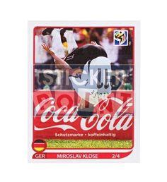 Panini WM 2010 Klose-Salto Sticker 2 von 4 vorne