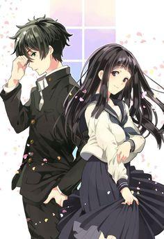 Anime: hyouka - Chitanda Eru & Oreki Houtarou