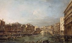 Giacomo Guardi, Der Markusplatz in Venedig mit dem Campanile, Ausschnitt (St. Mark's