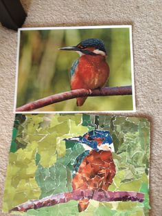 Have students take a photo, then create mosaic. Great art lesson !