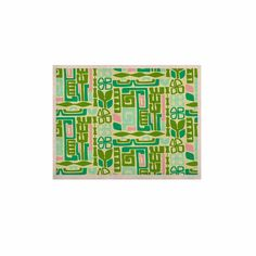 """Amy Reber """"Maze"""" Green Vector KESS Naturals Canvas (Frame not Included)"""