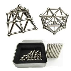 Steel Balls With Magnetic Sticks Neodymium Puzzle Magic Neo Cube Balls DIY Bar Blocks Toys Magico Cubo Toys For Tots, Cube Puzzle, Best Kids Toys, Diy Bar, Metal Box, Toys Shop, Goods And Services, Toy Store, Cool Toys