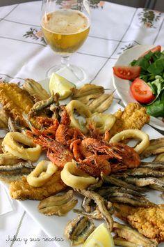 Pescado frito, fritada de pescado, Julia y sus recetas, pescaito frito