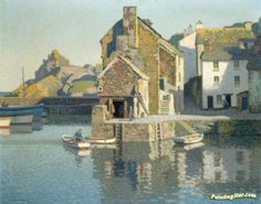 Polperro Harbour, Cornwall Artwork By Stanley Royle Oil Painting & Art Prints On Canvas For Sale Local Art Galleries, Boat Art, Puzzle Art, Building Art, Oil Painting Reproductions, Paintings I Love, Landscape Paintings, Landscapes, Landscape Photos
