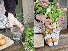 adelaparvu.com despre aranjamente cu oua si flori pentru masa de Paste, Foto Weranda Country (14)