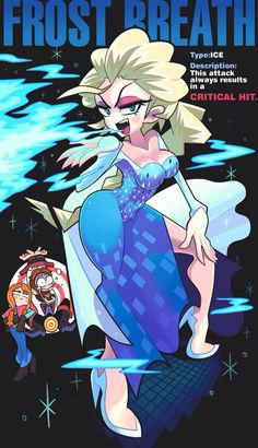 Elsa's Frost Breath by Gashi-gashi on DeviantArt Cartoon Kunst, Anime Kunst, Cartoon Art, Disney Kunst, Disney Art, Thicc Anime, Anime Art, Animation, Desenhos Cartoon Network