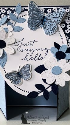 Fancy Fold Cards, Folded Cards, Card Making Templates, Happy Mother's Day Card, Cricut Cards, Butterfly Cards, Mothers Day Cards, Card Making Inspiration, Card Maker